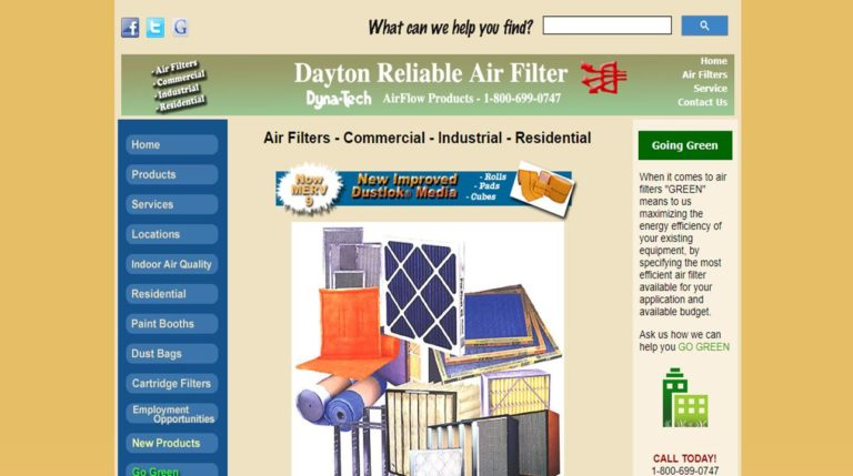 Dayton Reliable Air Filter