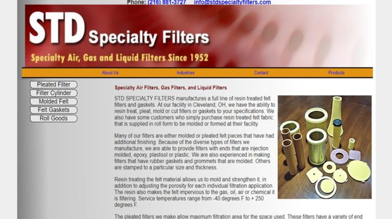 STD Specialty Filters, Inc.