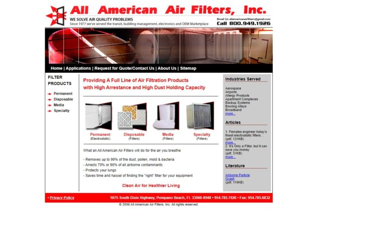 All American Air Filters, Inc.