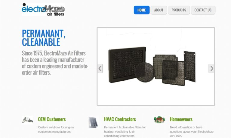 ElectroMaze® Air Filters